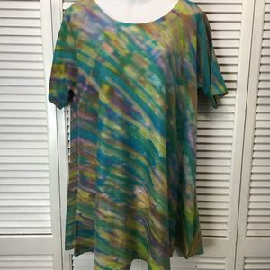 Soft Surroundings A-line tunic turquoise multi XL